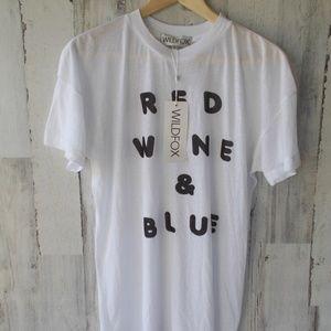 WILDFOX Red Wine & Blue Favorite Tee Tissue Jersey